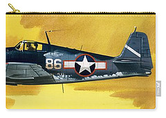 Grumman F6f-3 Hellcat Carry-all Pouch by Wilf Hardy