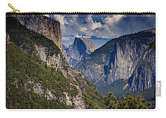 Half Dome And El Capitan Carry-all Pouch by Rick Berk