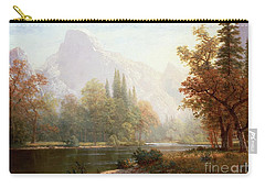 Half Dome Yosemite Carry-all Pouch by Albert Bierstadt