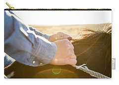 Hands On The Reins Carry-all Pouch by Todd Klassy