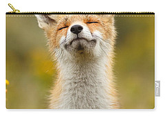 Happy Fox Carry-all Pouch by Roeselien Raimond