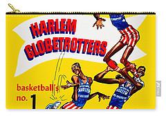 Harlem Globetrotters Vintage Program 32nd Season Carry-all Pouch by Big 88 Artworks