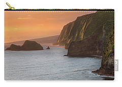 Hawaii Sunrise At The Pololu Valley Lookout 2 Carry-all Pouch by Larry Marshall