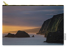Hawaii Sunrise At The Pololu Valley Lookout Carry-all Pouch by Larry Marshall