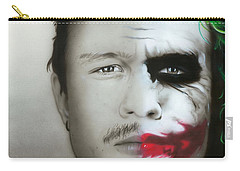 ' Heath Ledger / Joker ' Carry-all Pouch by Christian Chapman Art