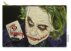 Heath Ledger The Joker Carry-all Pouch by David Peninger