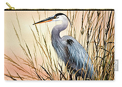 Heron Sunset Carry-all Pouch by James Williamson