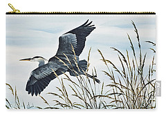 Herons Flight Carry-all Pouch by James Williamson