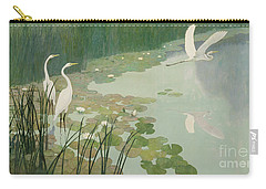 Herons In Summer Carry-all Pouch by Newell Convers Wyeth