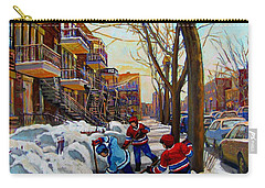 Hockey On De Bullion  Carry-all Pouch by Carole Spandau