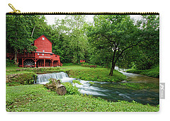 Hodgson Water Mill And Spring Carry-all Pouch by Cricket Hackmann