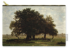 Holm Oaks Carry-all Pouch by Pierre Etienne Theodore Rousseau