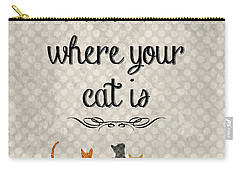 Home Is Where Your Cat Is-jp3040 Carry-all Pouch by Jean Plout