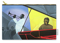 Hot And Cool Jazz Carry-all Pouch by Kaaria Mucherera