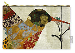 Hummingbird Brocade IIi Carry-all Pouch by Mindy Sommers