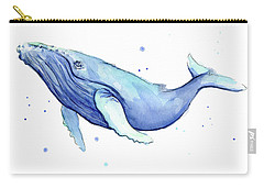 Humpback Whale Watercolor Carry-all Pouch by Olga Shvartsur