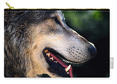 Hunting Wolf Carry-all Pouch by Martin Newman