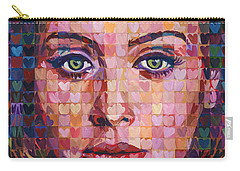 I Heart Adele - 25 Album Carry-all Pouch by Randal Huiskens