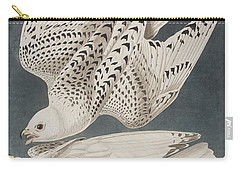 Iceland Falcon Or Jer Falcon Carry-all Pouch by John James Audubon