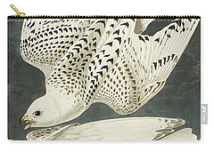 Iceland Or Jer Falcon Carry-all Pouch by John James Audubon