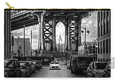 Iconic Manhattan Bw Carry-all Pouch by Az Jackson