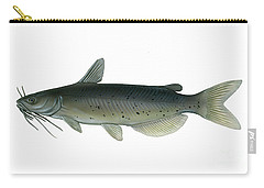 Illustration Of A Channel Catfish Carry-all Pouch by Carlyn Iverson