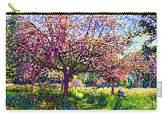 In Love With Spring, Blossom Trees Carry-all Pouch by Jane Small