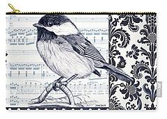 Indigo Vintage Songbird 2 Carry-all Pouch by Debbie DeWitt