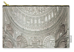 Interior Of Saint Pauls Cathedral Carry-all Pouch by John Coney