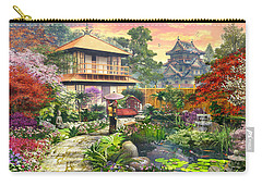 Japan Garden Variant 2 Carry-all Pouch by Dominic Davison