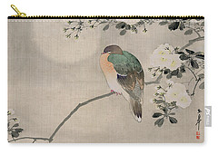 Japanese Silk Painting Of A Wood Pigeon Carry-all Pouch by Japanese School