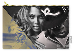 Jay Z Beyonce Collection Carry-all Pouch by Marvin Blaine