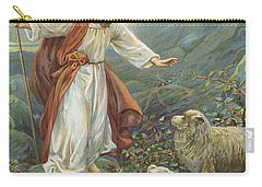 Jesus Christ The Tender Shepherd Carry-all Pouch by Ambrose Dudley