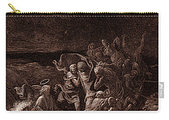 Jesus Stilling The Tempest Carry-all Pouch by Gustave Dore