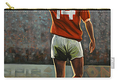 Johan Cruyff Oranje Nr 14 Carry-all Pouch by Paul Meijering