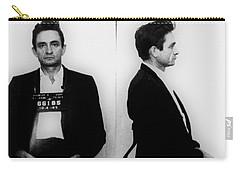 Johnny Cash Mug Shot Horizontal Carry-all Pouch by Tony Rubino