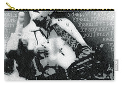 Johnny Cash Rebel Vertical Carry-all Pouch by Tony Rubino