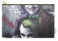 Jokery In Wayne Manor Carry-all Pouch by Tyler Haddox