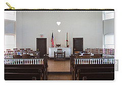 Jury Box In A Courthouse, Old Carry-all Pouch by Panoramic Images