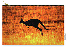 Kangaroo Sunset Carry-all Pouch by Bruce J Robinson