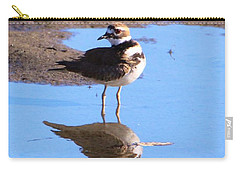 Killdeer Reflection Carry-all Pouch by Karen Silvestri