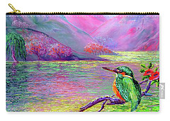 Kingfisher, Shimmering Streams Carry-all Pouch by Jane Small