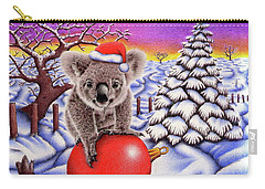 Koala On Christmas Ball Carry-all Pouch by Remrov