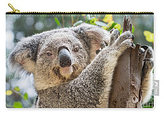 Koala On Tree Carry-all Pouch by Jamie Pham