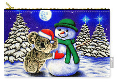 Koala With Snowman Carry-all Pouch by Remrov