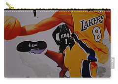 Kobe Bryant Taking Flight 3a Carry-all Pouch by Brian Reaves