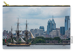 L Hermione Philadelphia Skyline Carry-all Pouch by Terry DeLuco