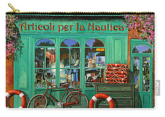 La Bicicletta Rossa Carry-all Pouch by Guido Borelli