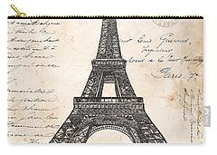 La Tour Eiffel Carry-all Pouch by Debbie DeWitt