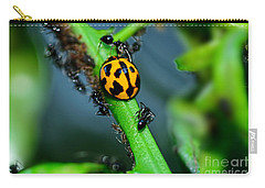 Ladybird And The Ants 2 By Kaye Menner Carry-all Pouch by Kaye Menner